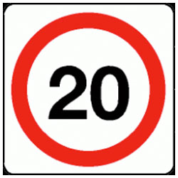 20 mph Traffic Sign