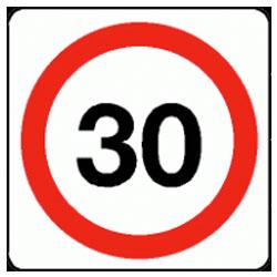 30 mph Traffic Sign