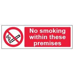 No smoking within these premises Sticker