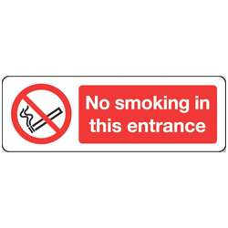 No smoking in this entrance Sign