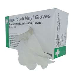 HypaTouch Powder-Free Vinyl Gloves (Box of 100)