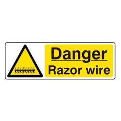 Danger Razor Wire Warning Sign