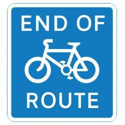 End of Cycle Route Traffic Sign