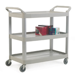 Grey Plastic 3 Shelf Trolley