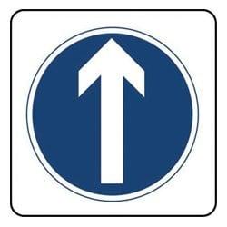Arrow Ahead Sign