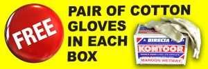 free gloves with Kontoor Abrasives