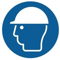 Wear Head Protection Symbol Safety Labels