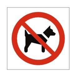 No Dogs Pictorial Sign