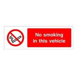 No Smoking In This Vehicle Sign