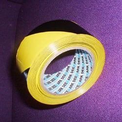 yellow and black hazard tape