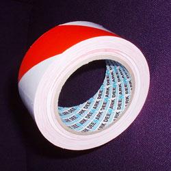red and white hazard tape