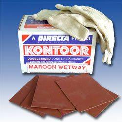 Kontoor Abrasive Sanding Sheets - Maroon
