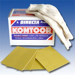 Kontoor Abrasives - Pack of 100 Sheets - Double Sided - Dryway for use on wood