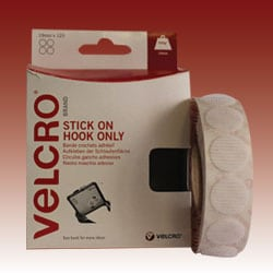 VELCRO® Brand Stick on - Hook Only - White 19mm