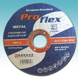 Metal Flat Centre Cutting Discs - Pro Flex
