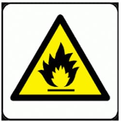 Flammable Pictorial Sign