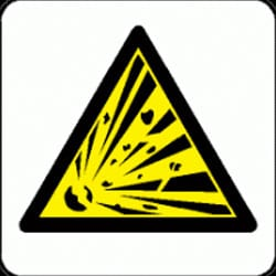 Explosive Pictorial Sign