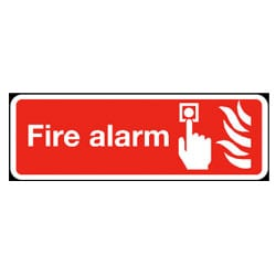 Fire Alarm Rectangle Sign