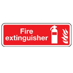 Fire Extinguisher Rectangle Sign