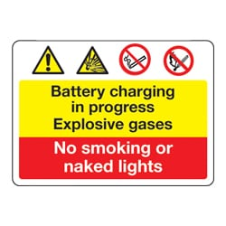 Battery Charging In Progress Multi sign