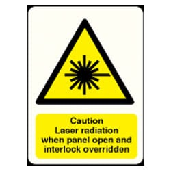 Caution Laser Radiation etc Sign