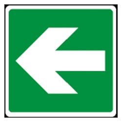 Emergency Exit Arrow Left Sign