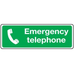 Emergency Telephone Sign
