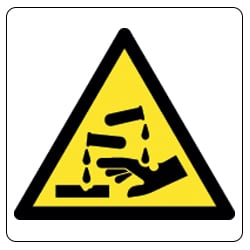 Corrosive Pictorial Sign