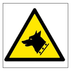 Guard Dog Pictorial Sign