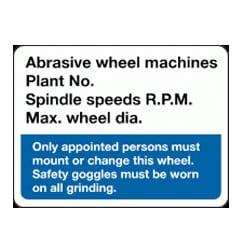 Abrasive Wheel Machines sign