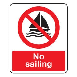 No Sailing Sign