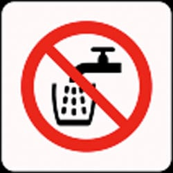 Not Drinking Water Pictorial Sign