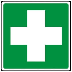 First Aid Pictorial Cross Sign