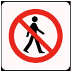 No Access Pictorial Sign