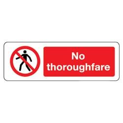 No Thoroughfare Sign