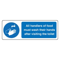 Handlers Of Food Must Wash Their Hands Sign