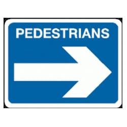 Pedestrians Arrow Right Sign