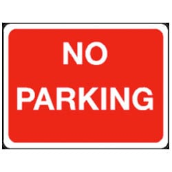 No Parking Sign - Red and White