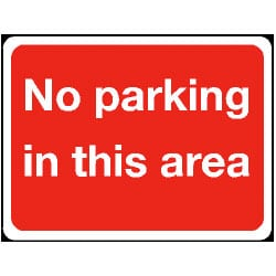 No Parking In This Area Sign