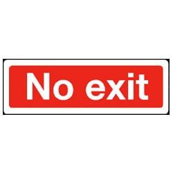 Plain Text No Exit Sign