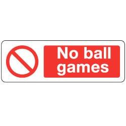 No Ball Games sign
