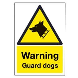 Warning Guard Dogs Sign