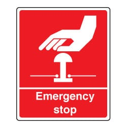 Emergency Stop Red Sign