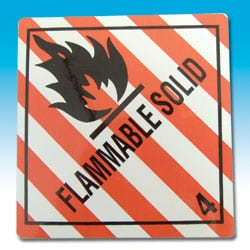 Flammable Solid IMO Label