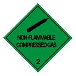 Non Flammable Compressed Gas Label