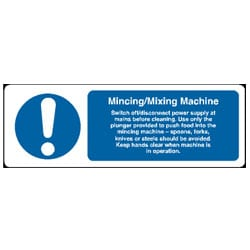 Mincing/Mixing Machine sign