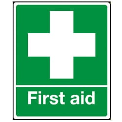 First Aid with Symbol Sign