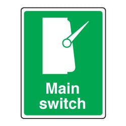 Main Switch Safety Sign
