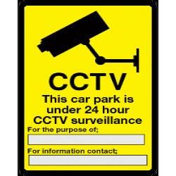 CCTV This Car Park is under 24 hour CCTV surveillance Sign
