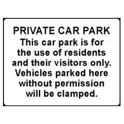 Private Car Park Sign